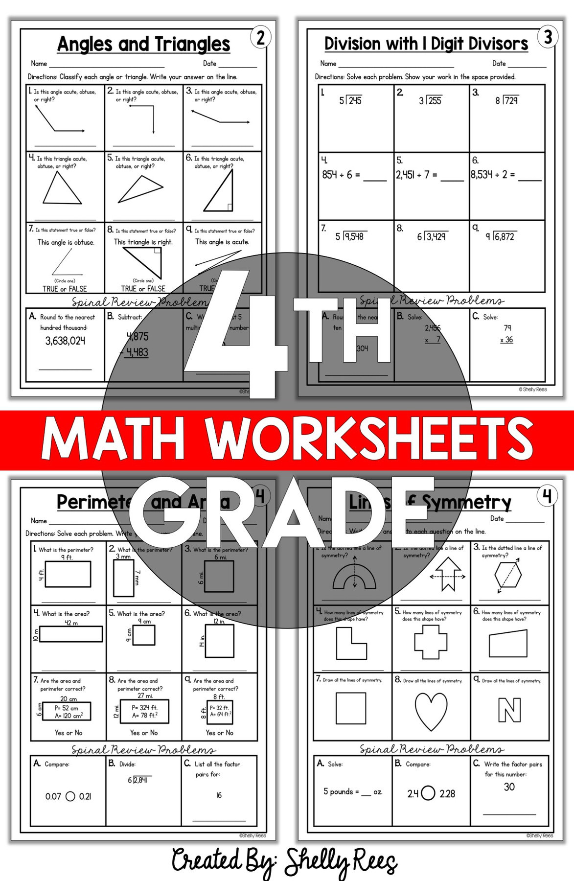 4th Grade Math Review Worksheets 4th Grade Math Worksheets Free and Printable Appletastic