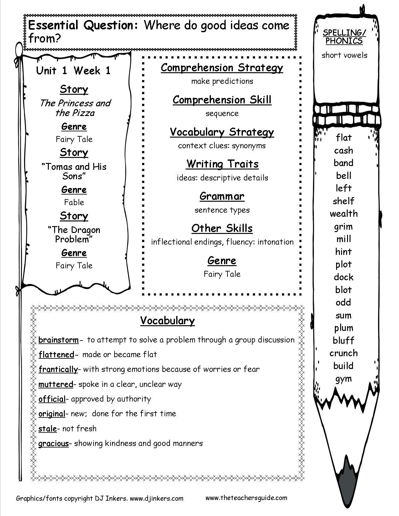 4th Grade Phonics Worksheets Mcgraw Hill Wonders Fourth Grade Resources and Printouts