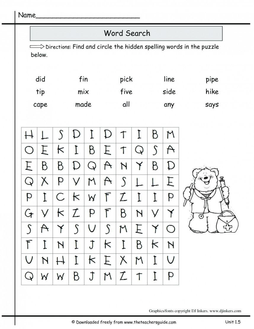 4th Grade Spelling Worksheets 2nd Grade Spelling Worksheets for Educations 2nd Grade