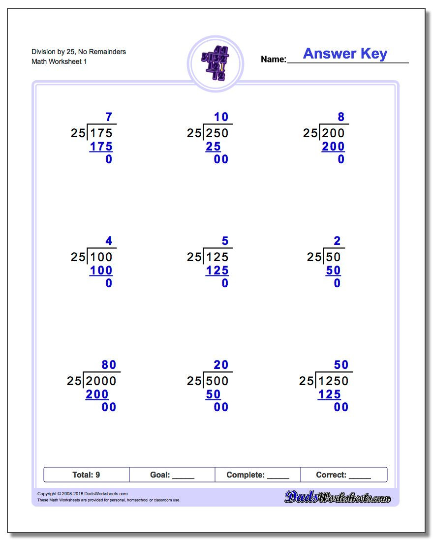 5th Grade Division Worksheets Long Division Worksheets