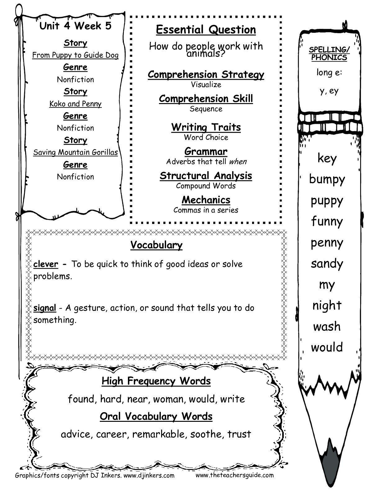 5th Grade Phonics Worksheets Pin On Grade Main Idea Worksheets