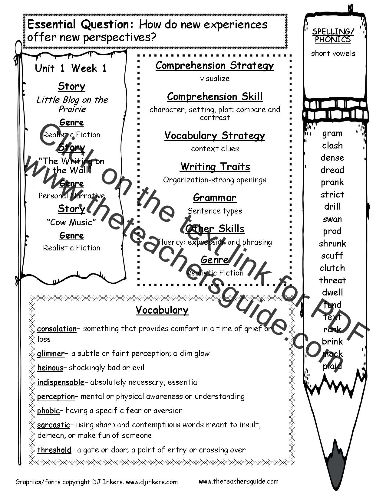 6th Grade Spelling Worksheets Wonders Sixth Grade Unit E Week E Printouts