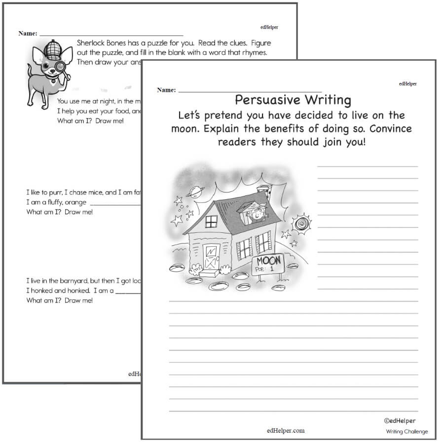 8th Grade Language Arts Worksheets Writing Worksheets for Creative Kids Free Pdf Printables 2nd