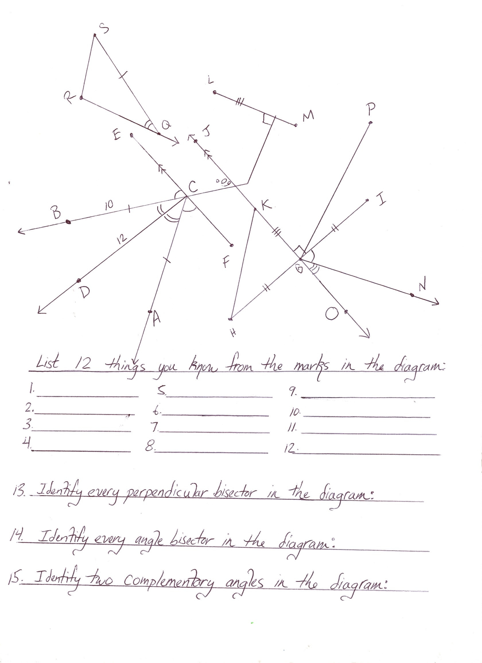 9th Grade Geometry Worksheets Geometry Worksheet First Grade