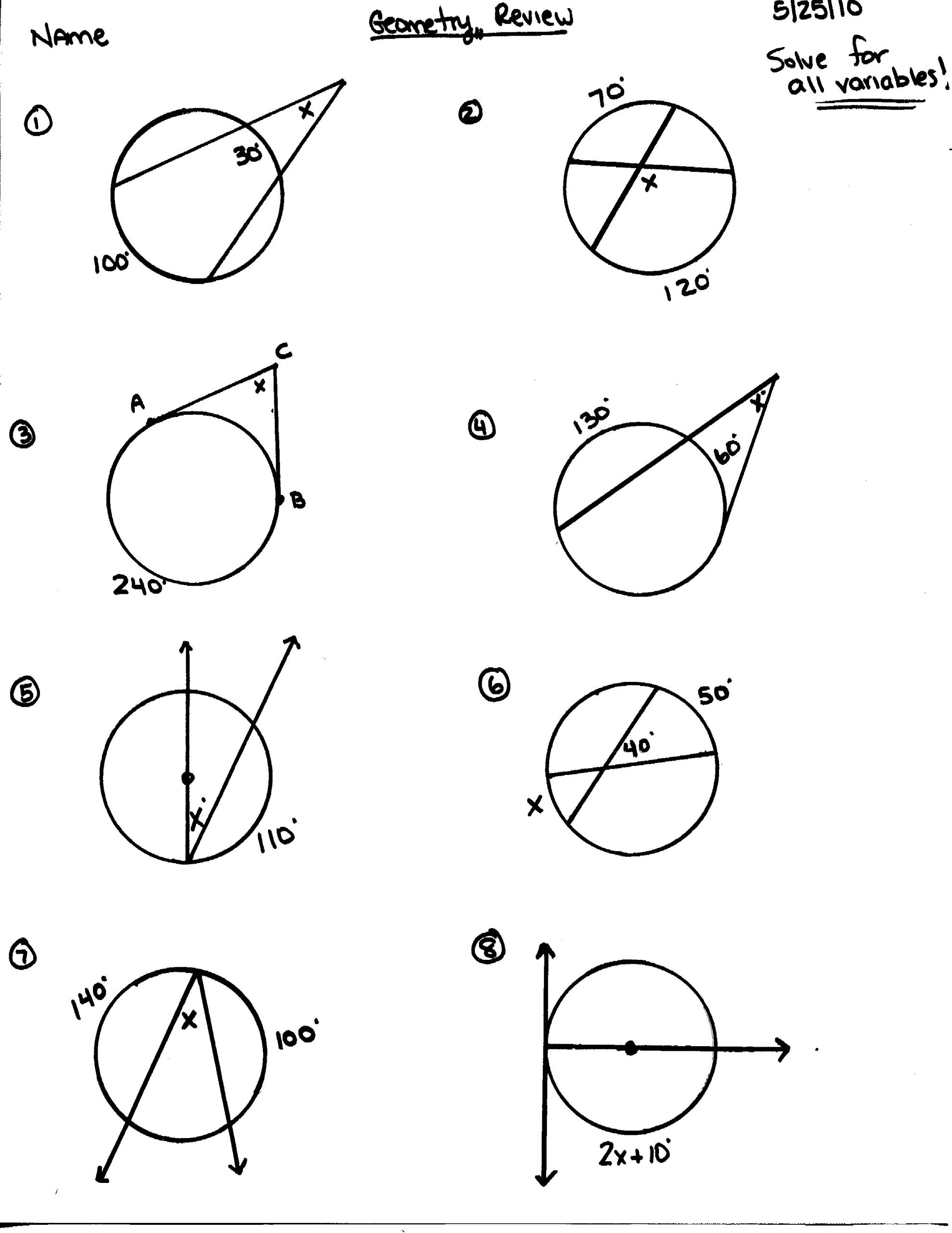 9th Grade Geometry Worksheets Honors Geometry 2015 2016