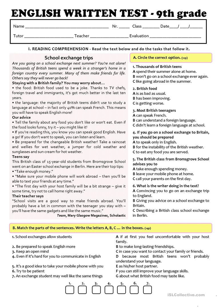 9th Grade Vocabulary Worksheet Pin On Direction