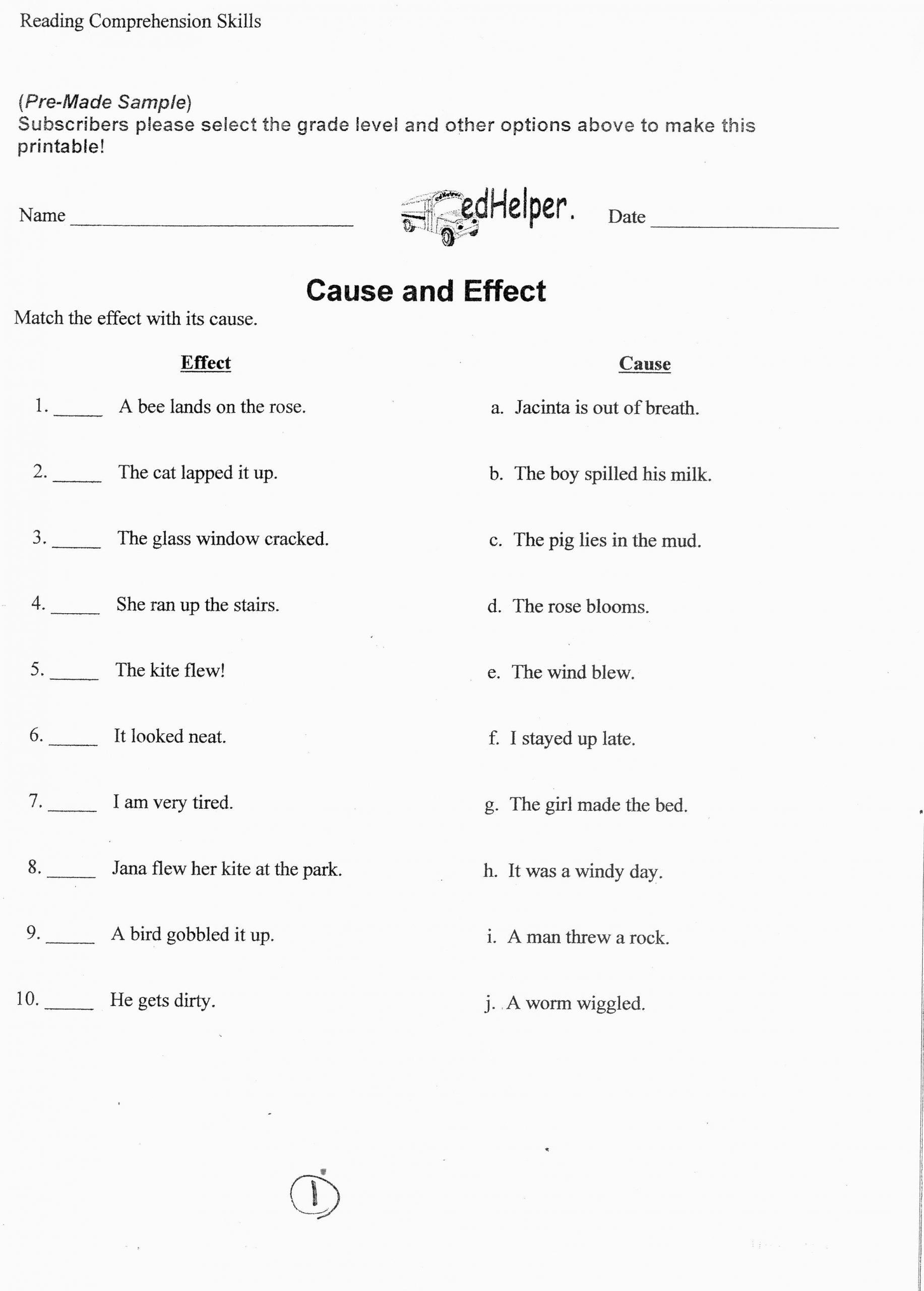 9th Grade Vocabulary Worksheet Pin On Grade Main Idea Worksheets
