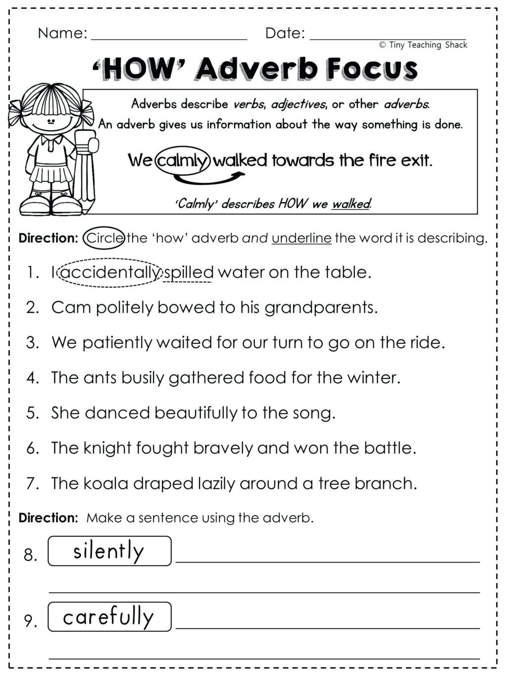 Adjective Worksheets 1st Grade Worksheet 1st Standard English Worksheet 12th Grade Verb