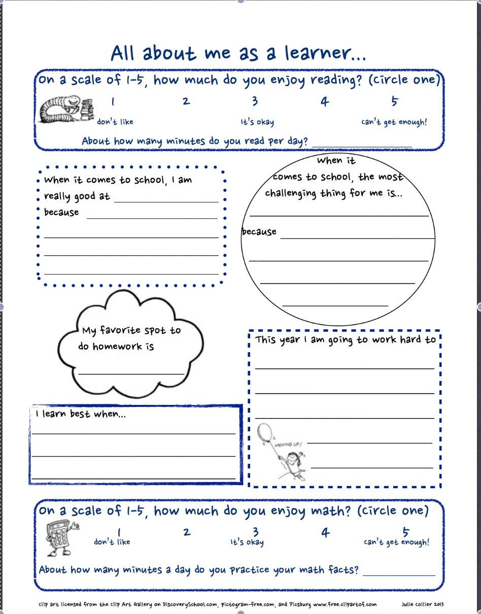 Advisory Worksheets for Middle School Getting to Know You Free Worksheet for the First Day Of