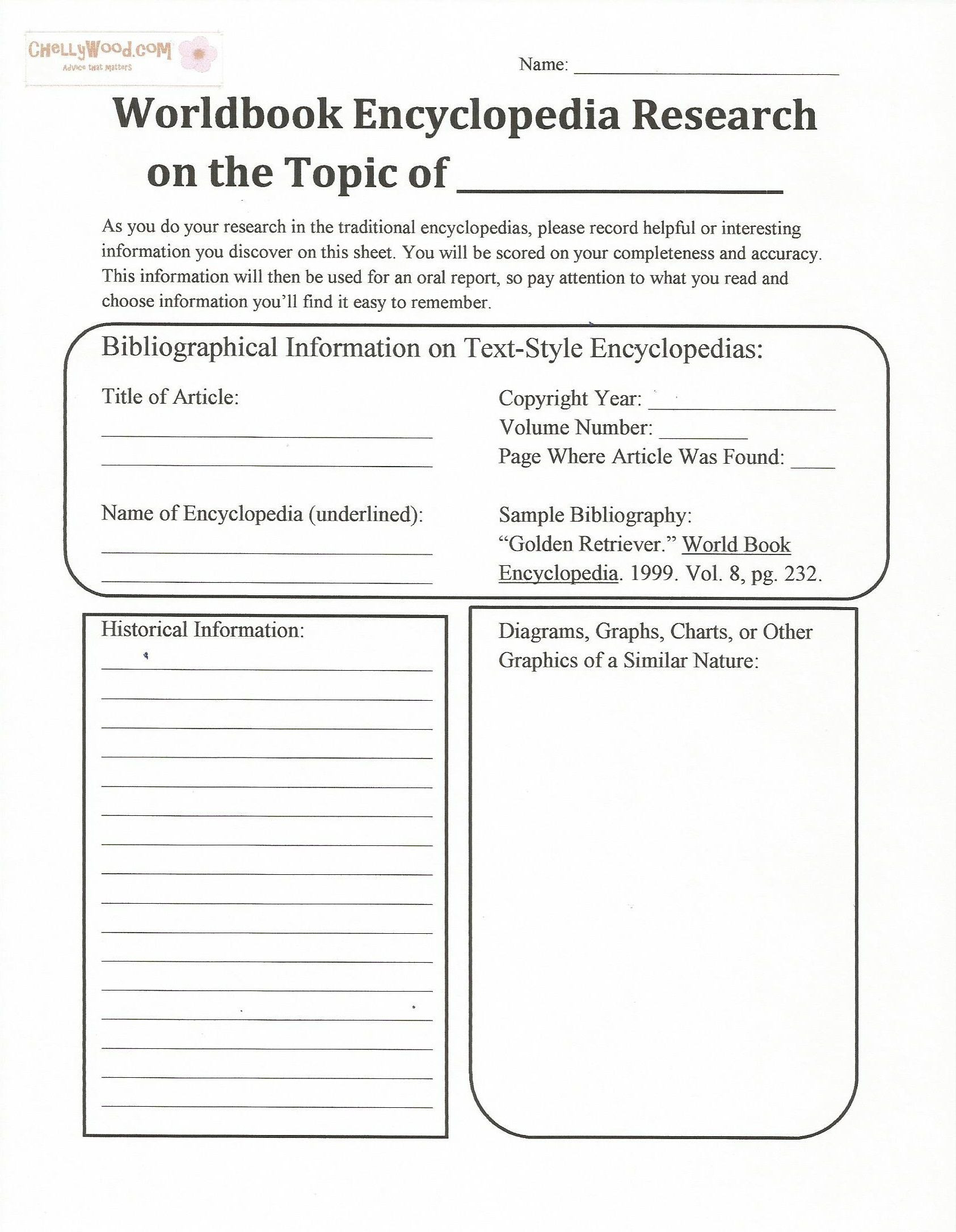 Advisory Worksheets for Middle School Worldbook Research Worksheet for Middle Schoolers Pg 1 Es