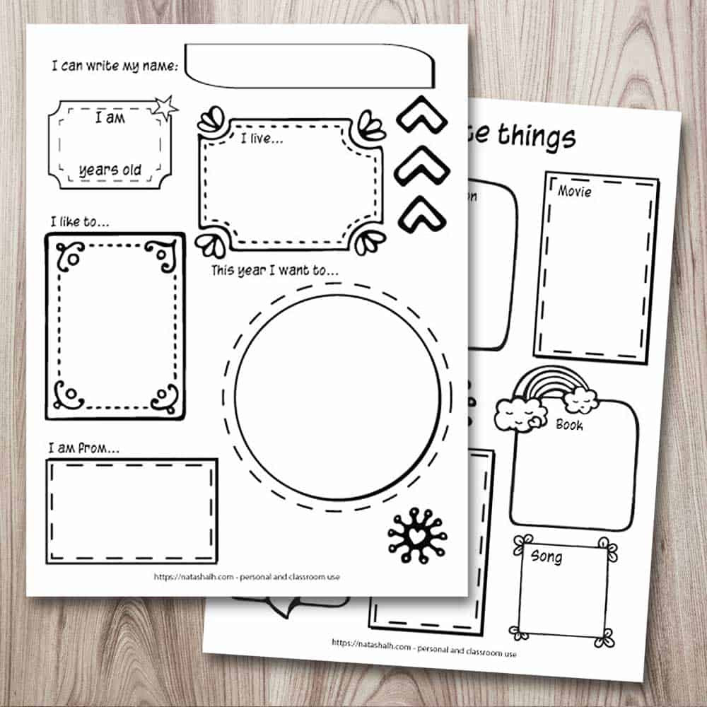 All About Me Worksheet Preschool 3 Free All About Me Printables Icebreaker Activity for Back
