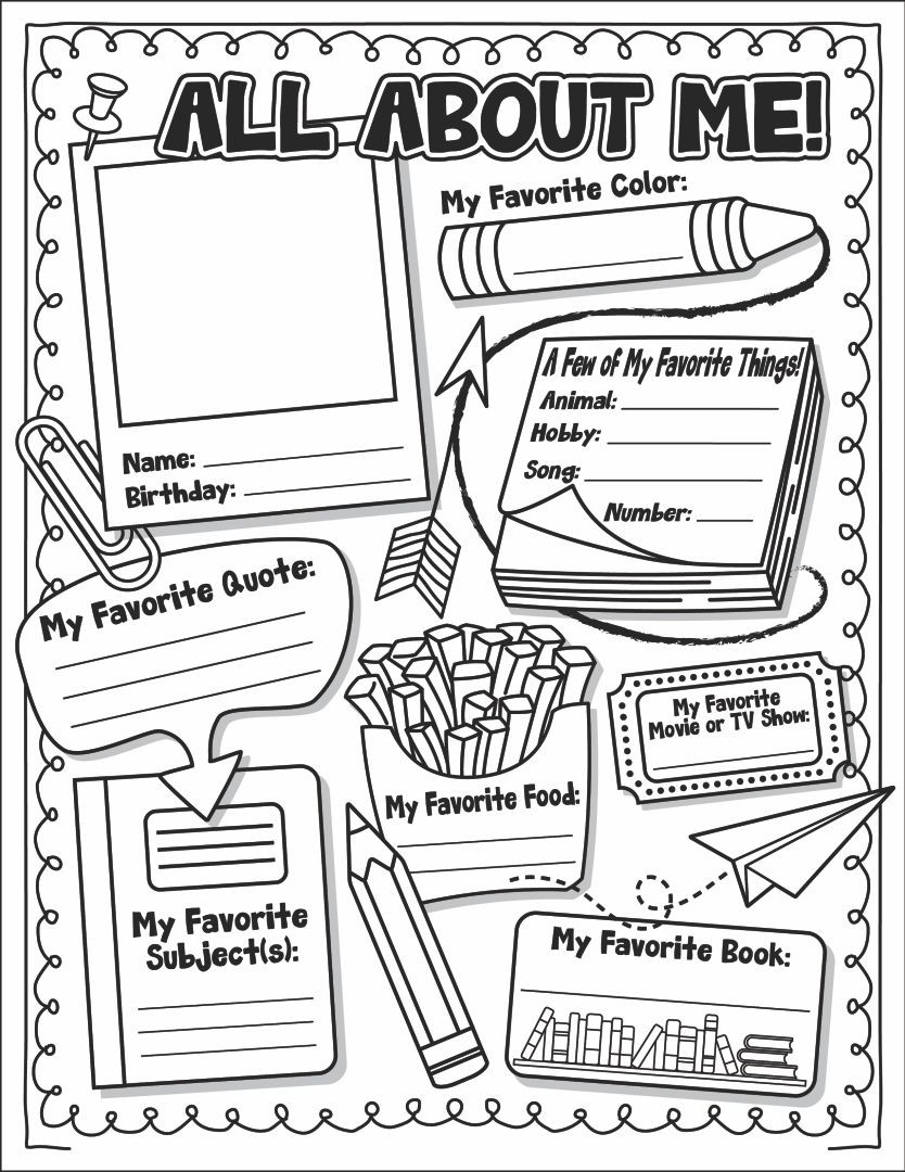All About Me Worksheet Preschool 6 Best Of All About Me Printable Template All About