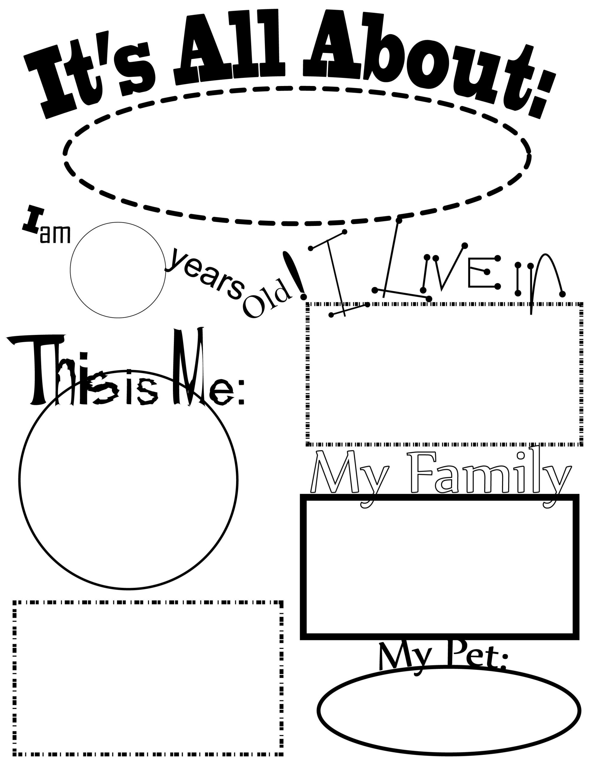 All About Me Worksheet Preschool All About Me Activities From Kiboomu Kids songs