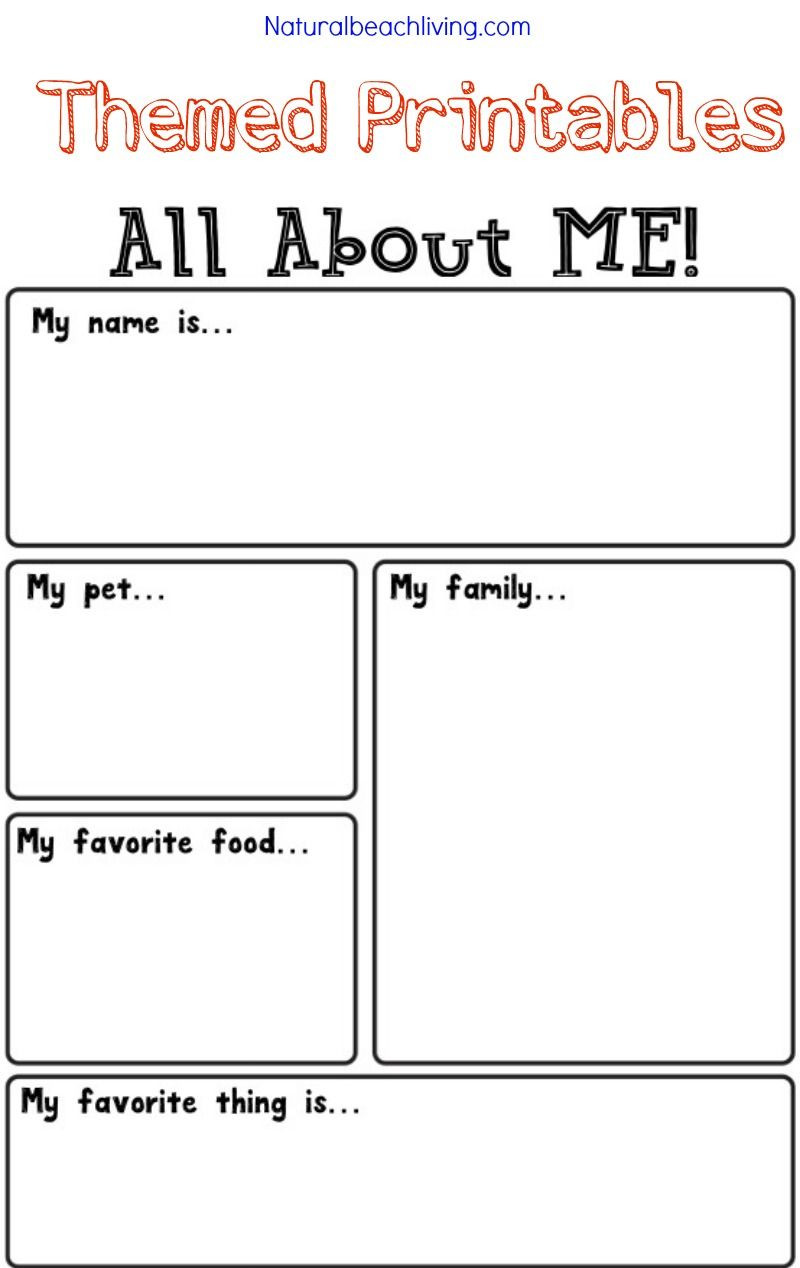 All About Me Worksheet Preschool All About Me Activity theme for Preschool & Kindergarten