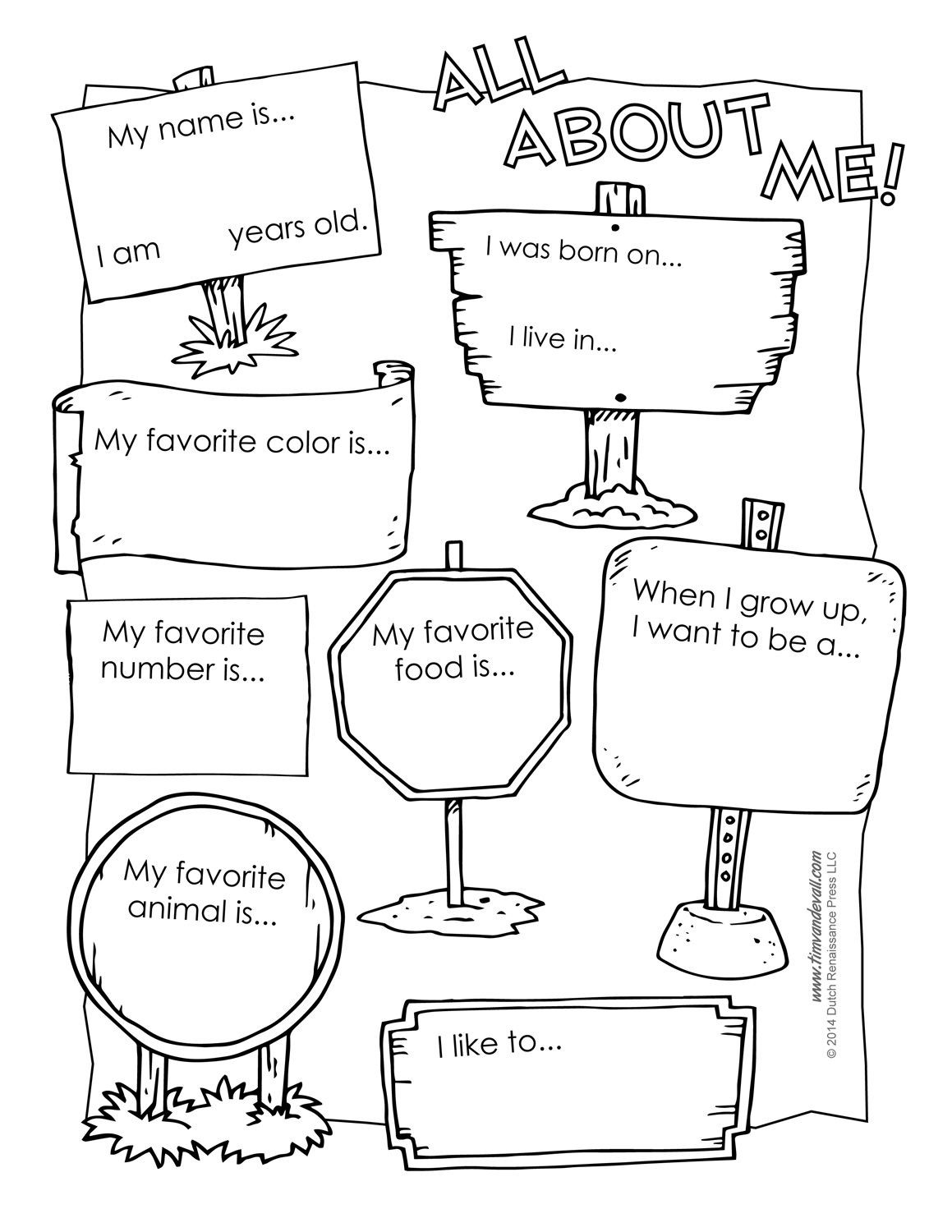 All About Me Worksheet Preschool All About Me Preschool Template