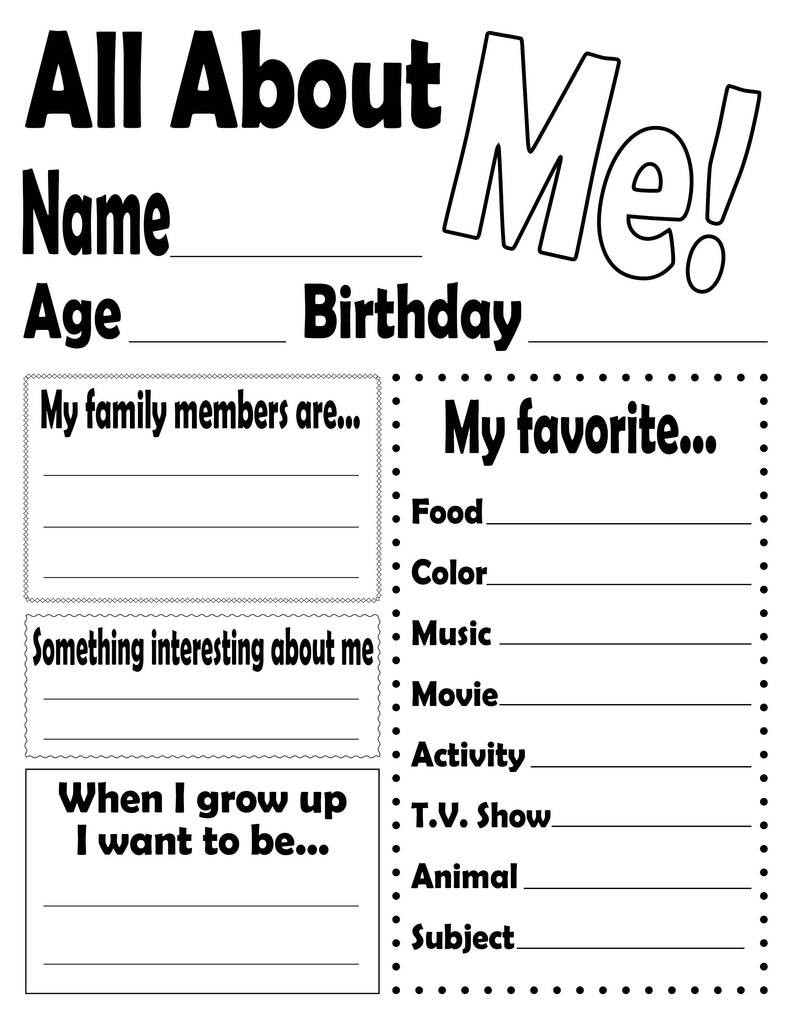All About Me Worksheet Preschool All About Me Worksheet and Printable Poster – Supplyme
