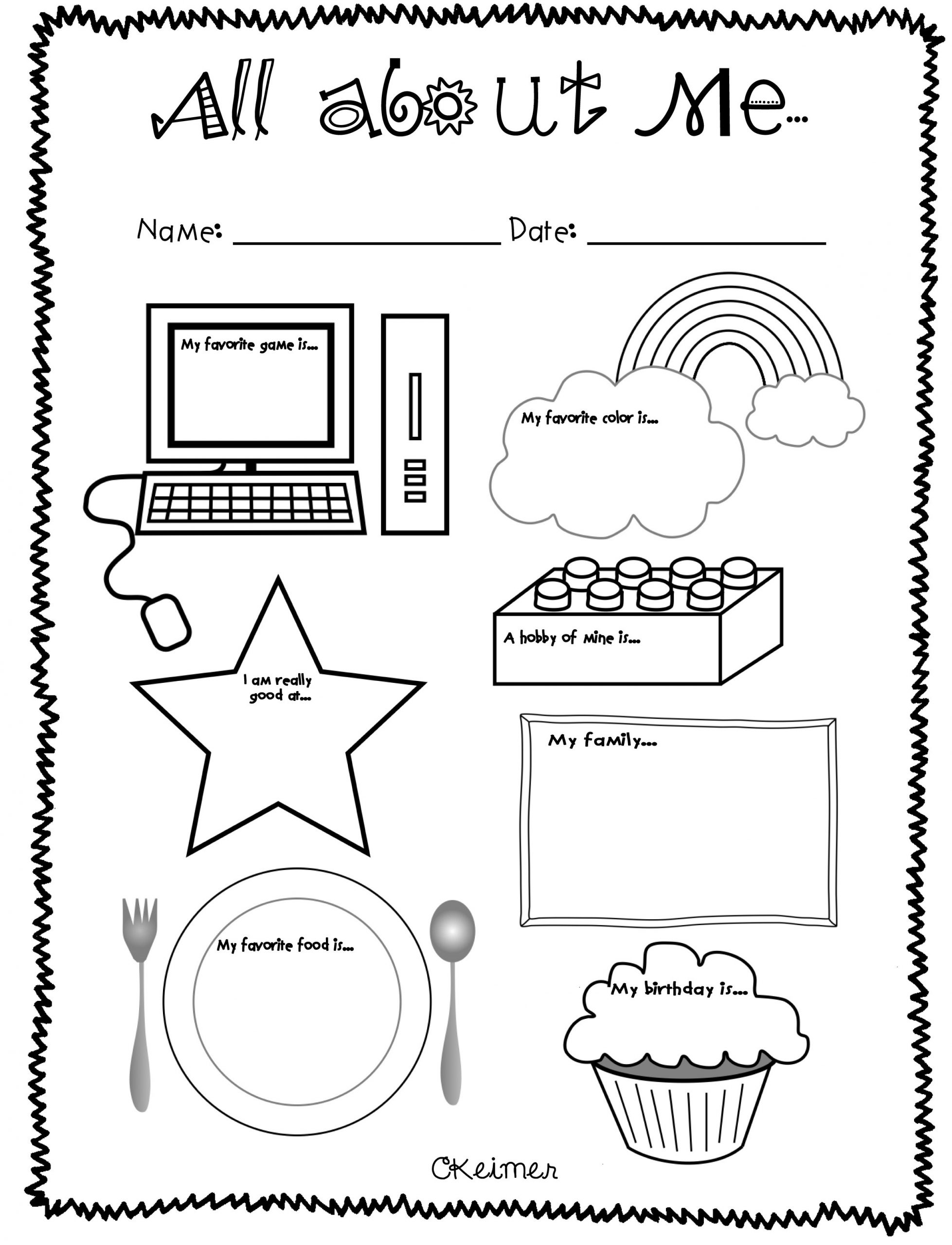 All About Me Worksheet Preschool Copy All About Me Lessons Tes Teach