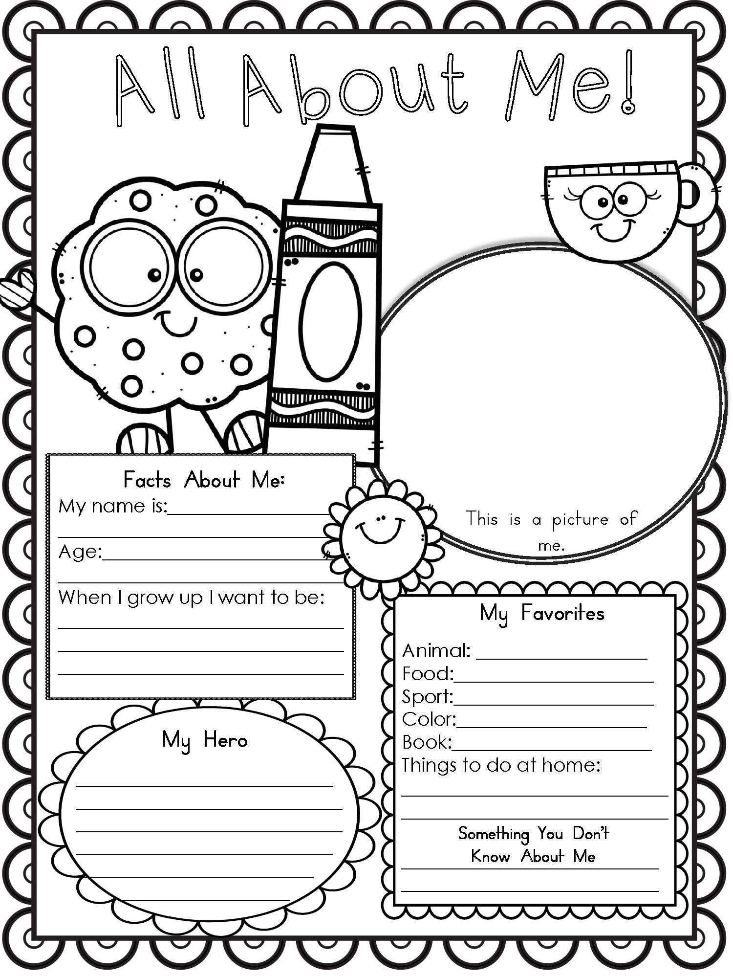 All About Me Worksheet Preschool Free Printable All About Me Worksheet Modern Homeschool Family