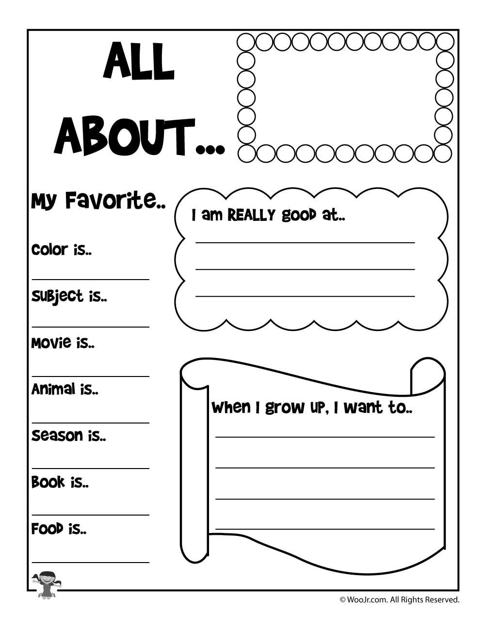 All About Me Worksheet Preschool Printable About Me Worksheets