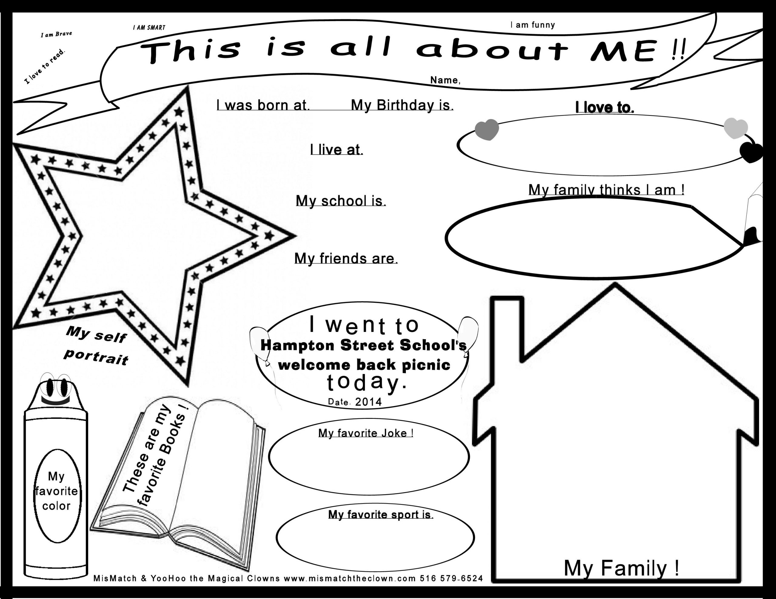 All About Me Worksheet Preschool This Printout All About Me Worksheet is Great Fro Kids