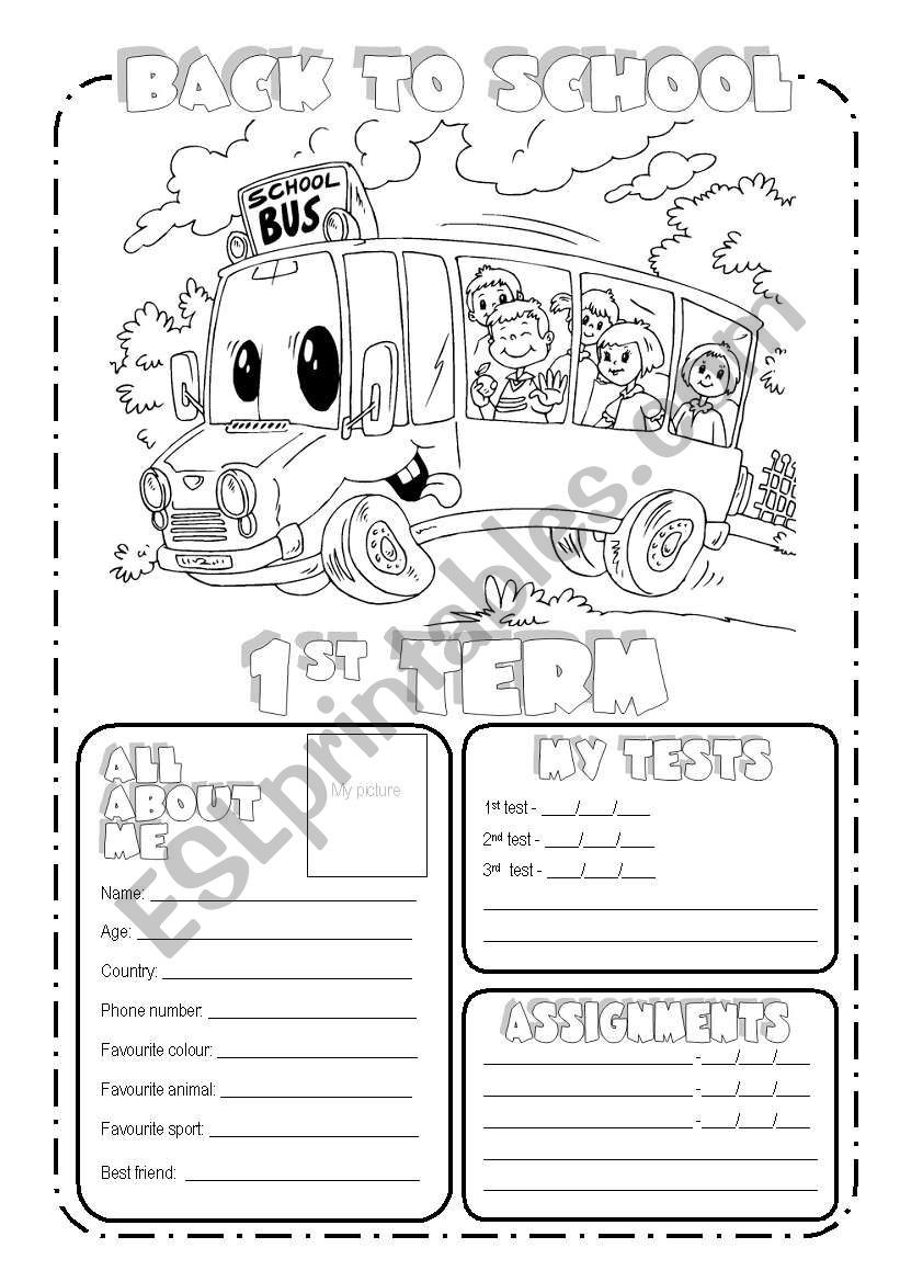 Back to School Worksheets Back to School Esl Worksheet by Veram