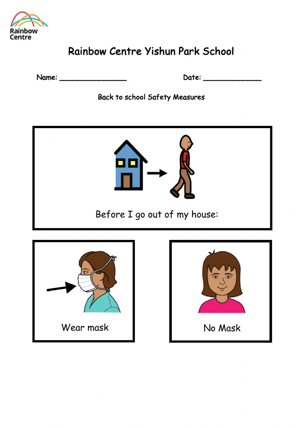 Back to School Worksheets Covid 19 Back to School Safety Measures Interactive Worksheet