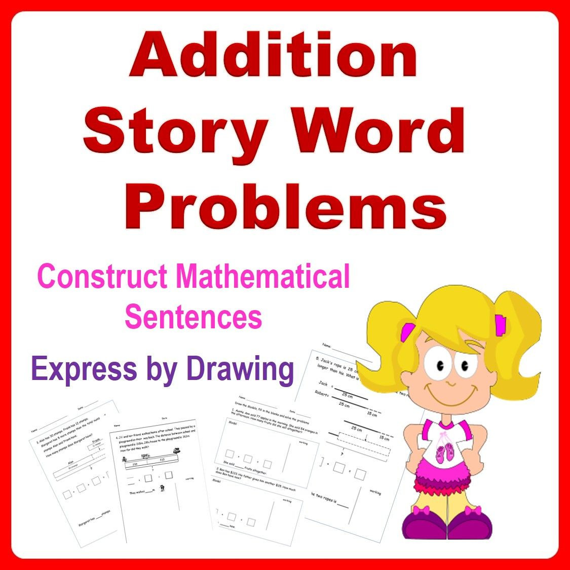 Bar Models Worksheets 2nd Grade Addition Word Problems Bar Models 1st Grade 2nd Grade