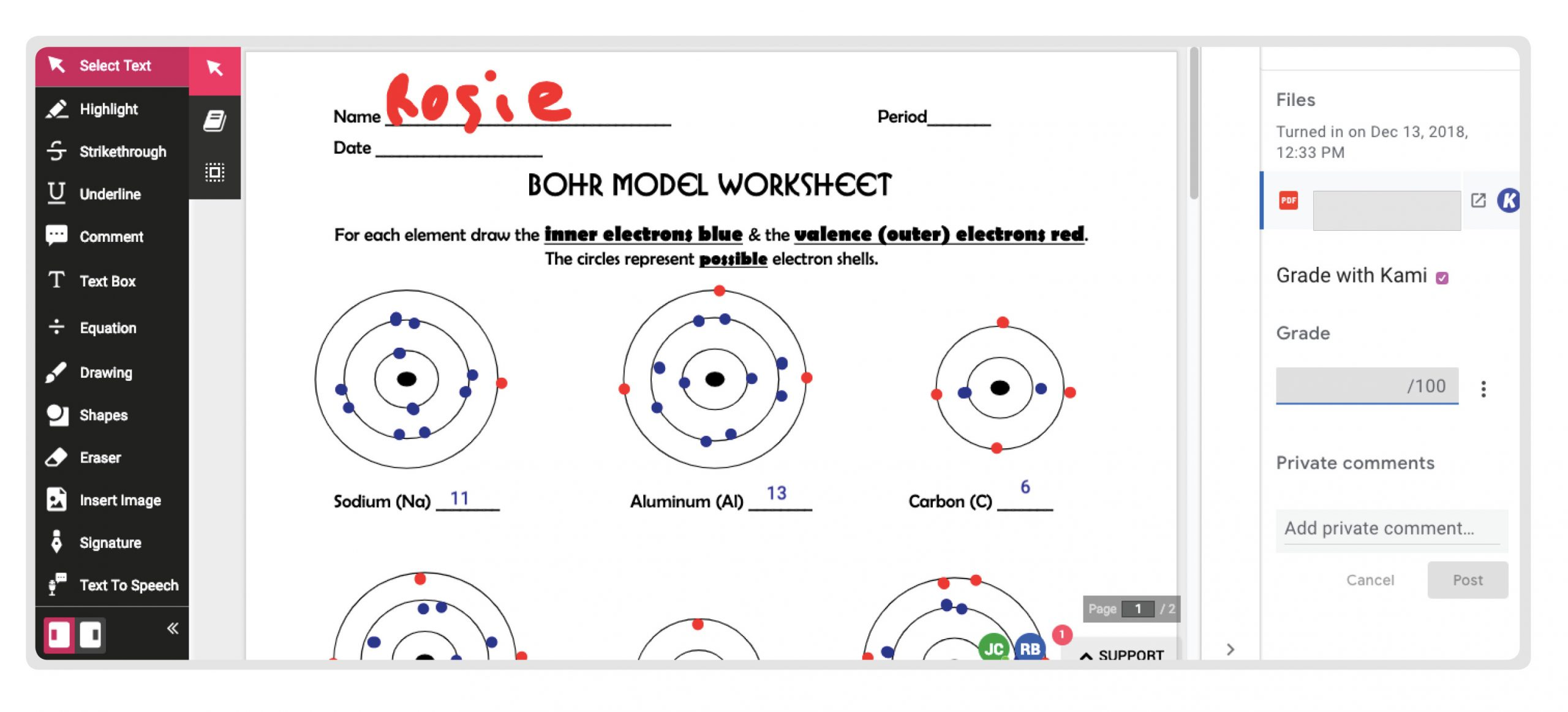 Bohr Model Worksheet Middle School Less Paper More Interactive with Kami 📒 – Kami Blog