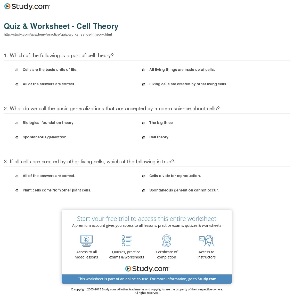 Cell theory Worksheet 7th Grade Cell theory Worksheet Search