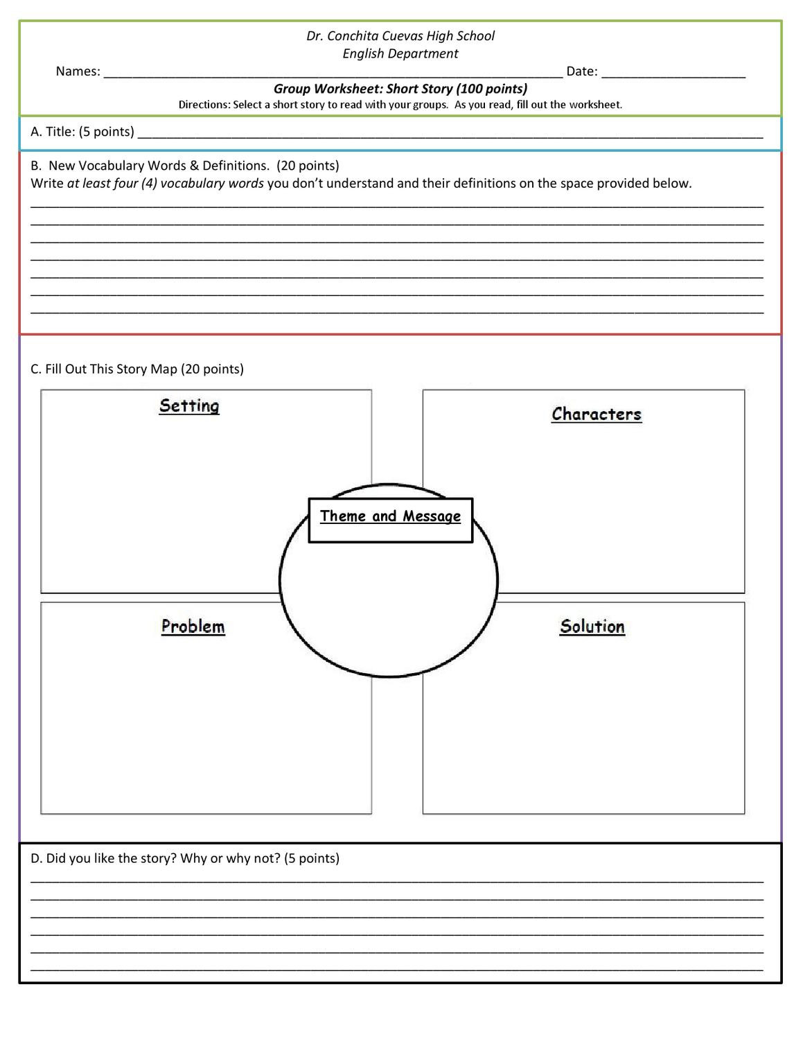 Character Analysis Worksheet High School Short Story Analysis Worksheet by Maria Jordan issuu