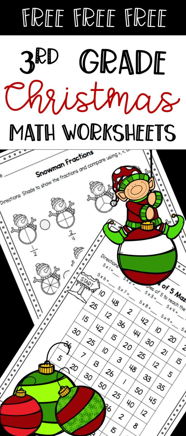 Christmas Math Worksheets 3rd Grade Christmas Worksheets Math Practice Pages Free Sample
