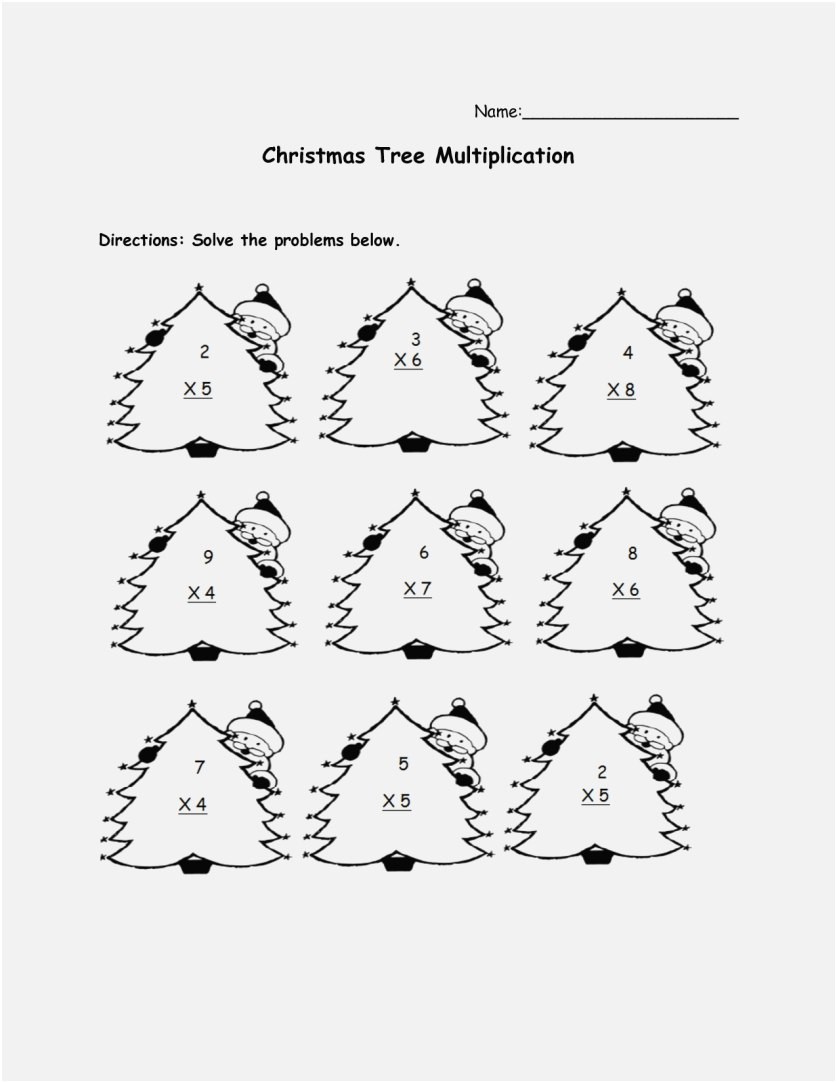 Christmas Math Worksheets 3rd Grade Worksheet Printable Christmas Math Worksheetsrd Grade
