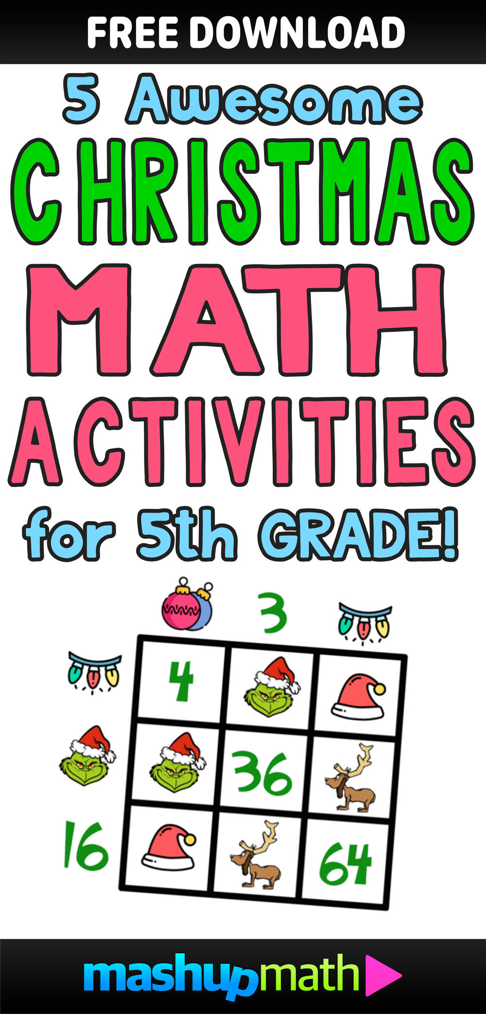 Christmas Math Worksheets 5th Grade 5 Awesome Christmas Math Activities for 5th Grade — Mashup Math