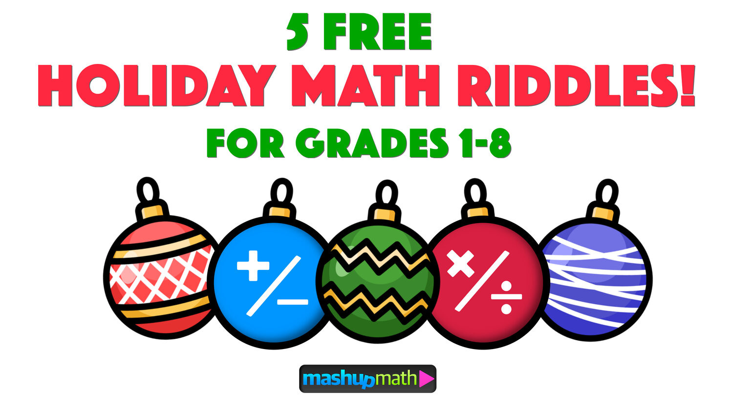 Christmas Math Worksheets 5th Grade 5 Fun Christmas Math Riddles and Brain Teasers for Grades 1