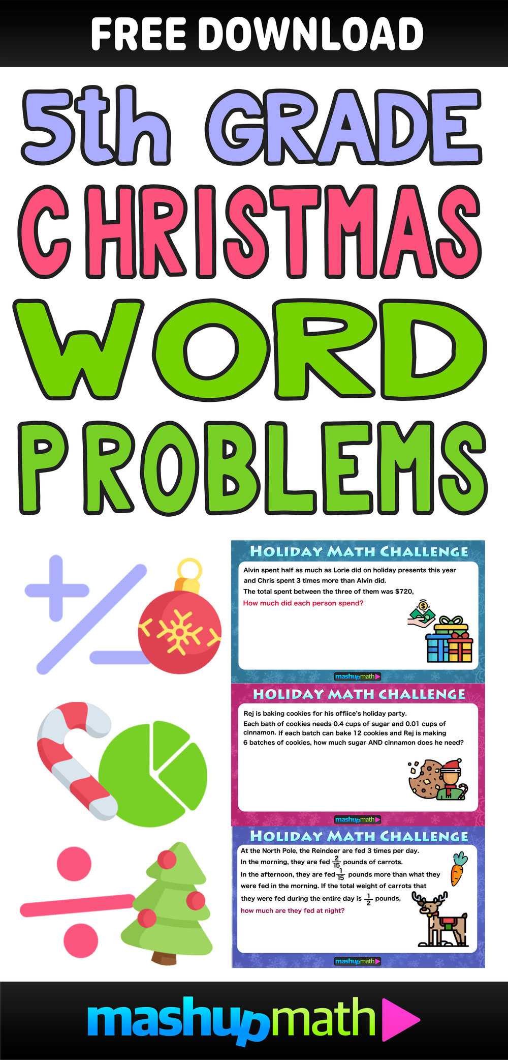 Christmas Math Worksheets 5th Grade the Best Math Christmas Word Problems for 5th Grade — Mashup