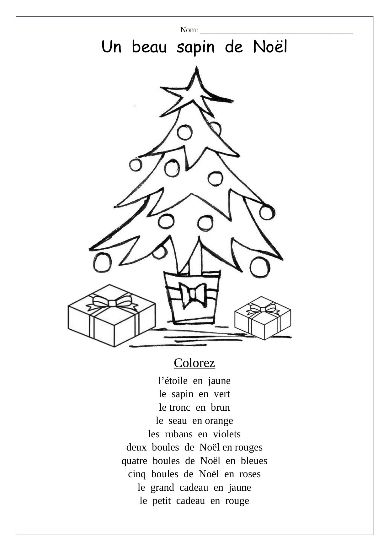 Christmas Worksheets for Preschoolers Christmas Tree Preschool Worksheets Printable and Cursive
