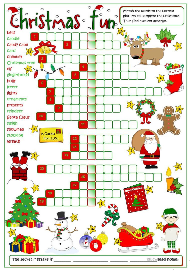Christmas Worksheets for Preschoolers English Esl Christmas Worksheets Most Ed 995 Results