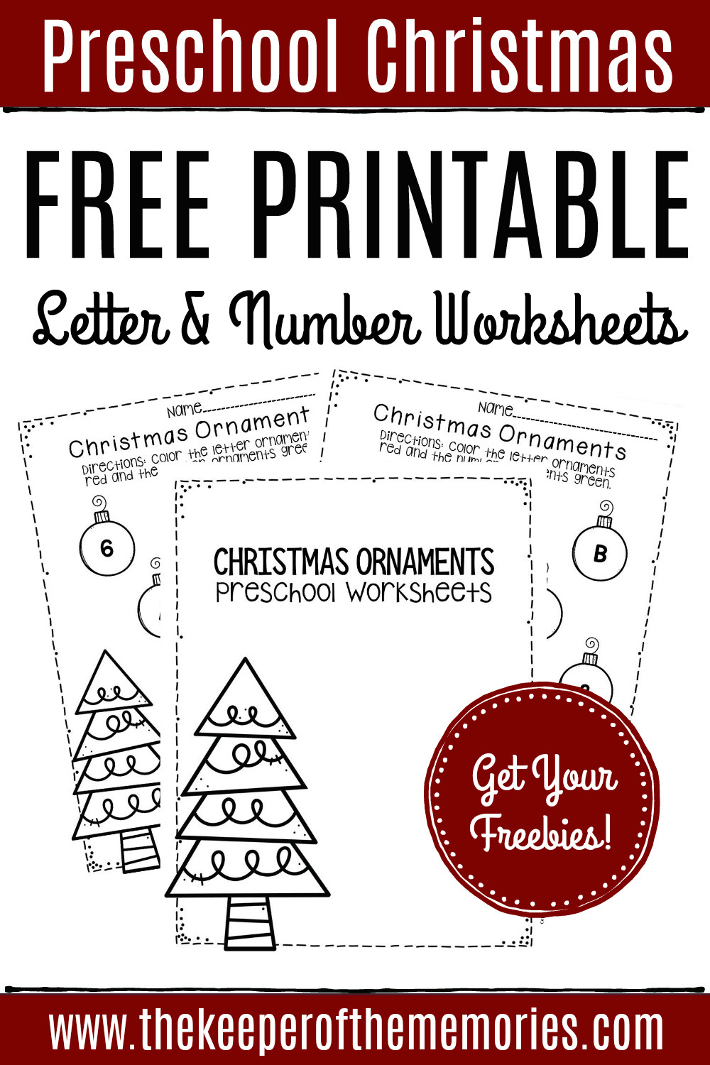 Christmas Worksheets for Preschoolers Free Printable Christmas ornaments Christmas Preschool