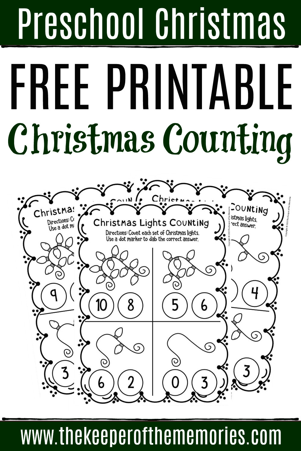 Christmas Worksheets for Preschoolers Free Printable Counting Christmas Preschool Worksheets