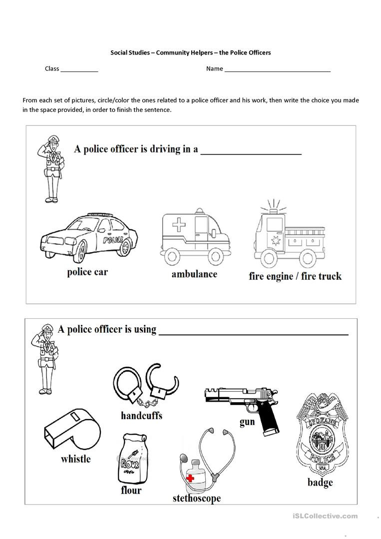 Community Helpers Worksheet for Preschool English Esl Munity Helpers Worksheets Most Downloaded the