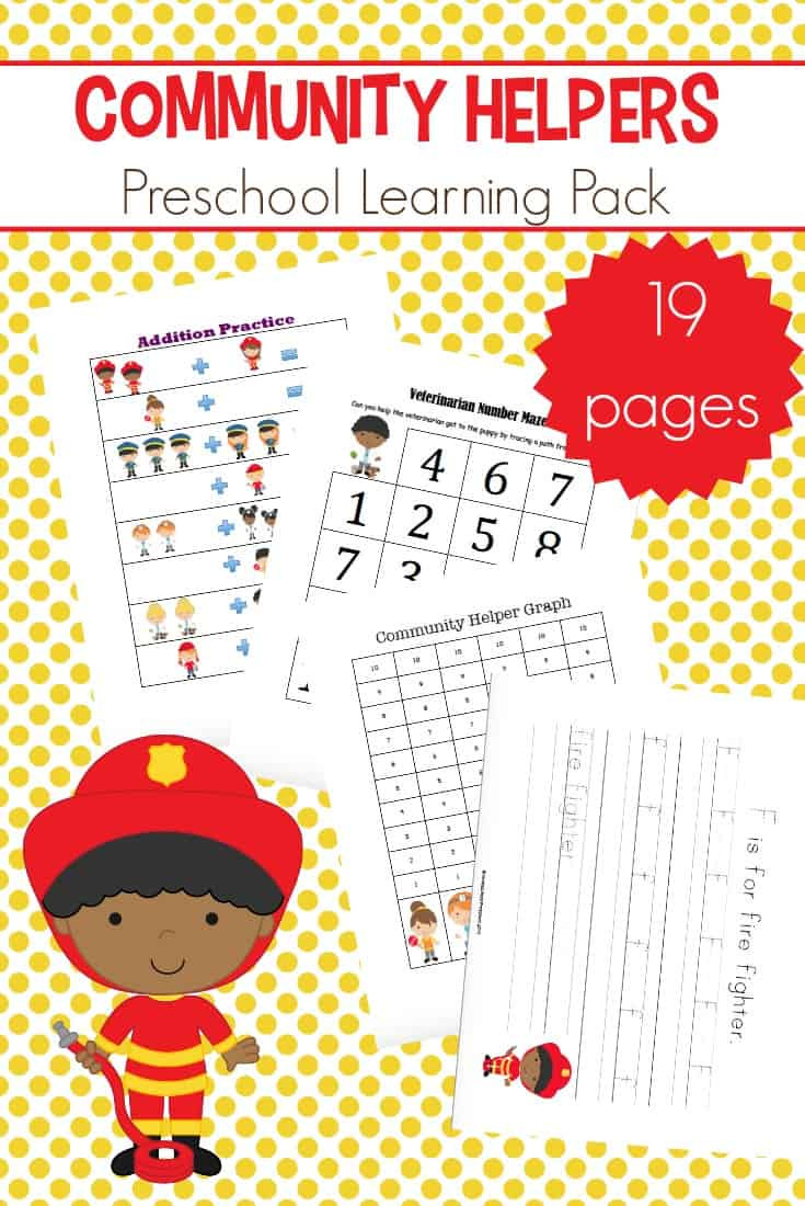 Community Helpers Worksheet for Preschool Free Printable Munity Helpers Preschool Pack
