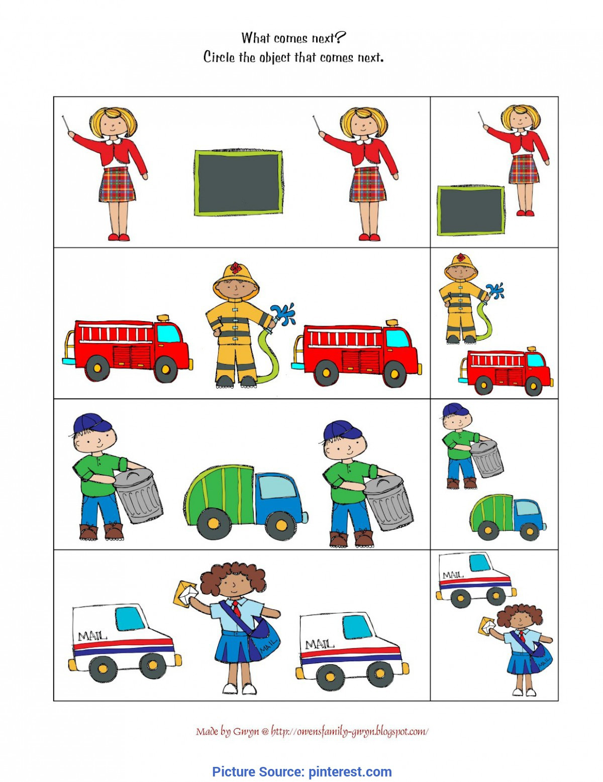 Community Helpers Worksheet for Preschool Munity Helpers Printables