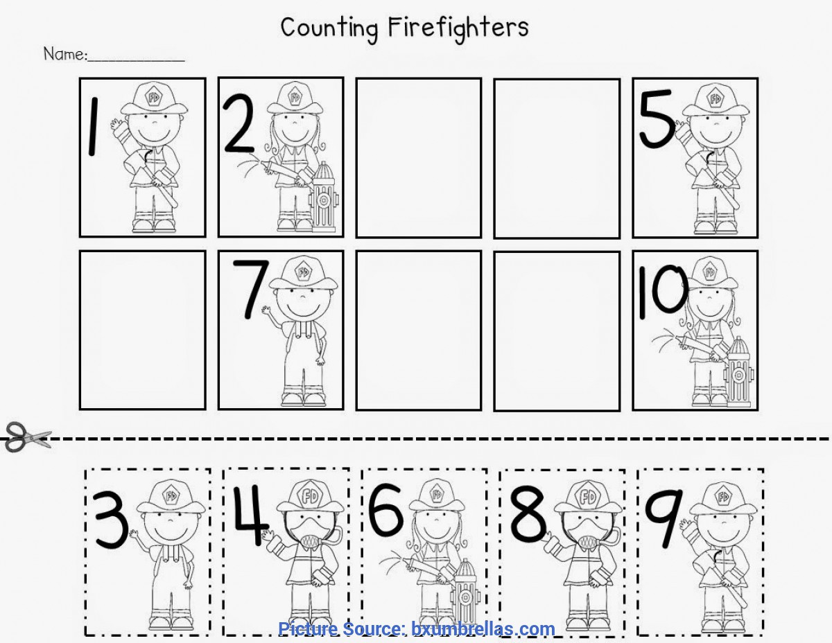 Community Helpers Worksheet for Preschool Special Munity Helpers Math Activities for Preschoolers