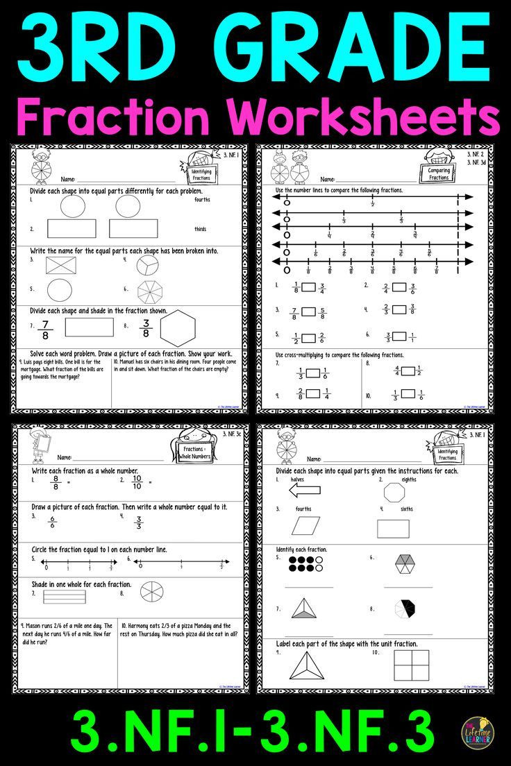 Comparing Fractions Worksheet 3rd Grade 3rd Grade Fraction Worksheets