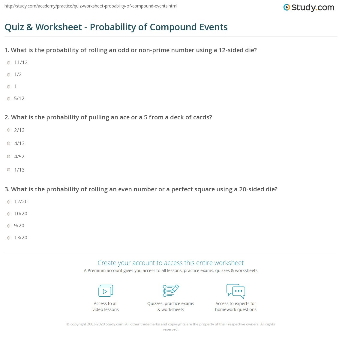 Compound Probability Worksheets 7th Grade 28 [ Probability and Pound events Worksheet ]