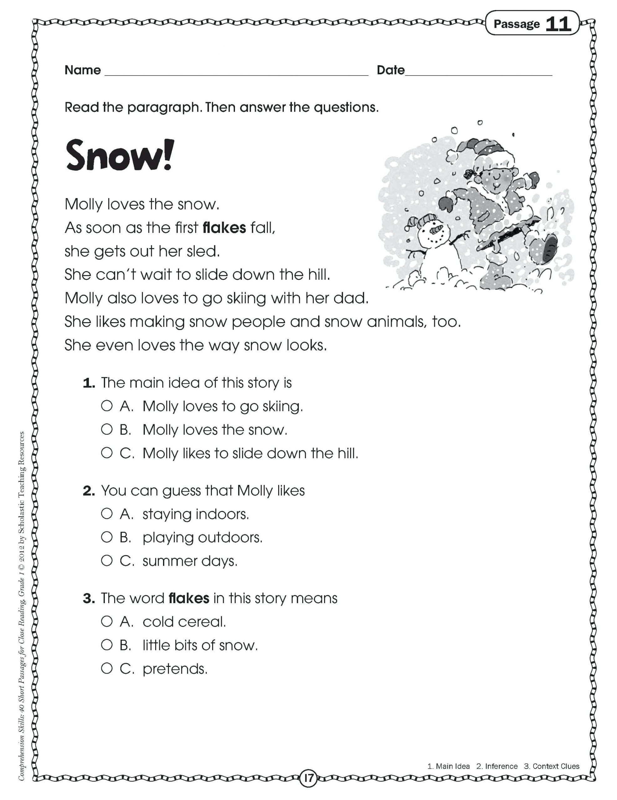 Context Clues Worksheets 6th Grade Pin On Grade Main Idea Worksheets