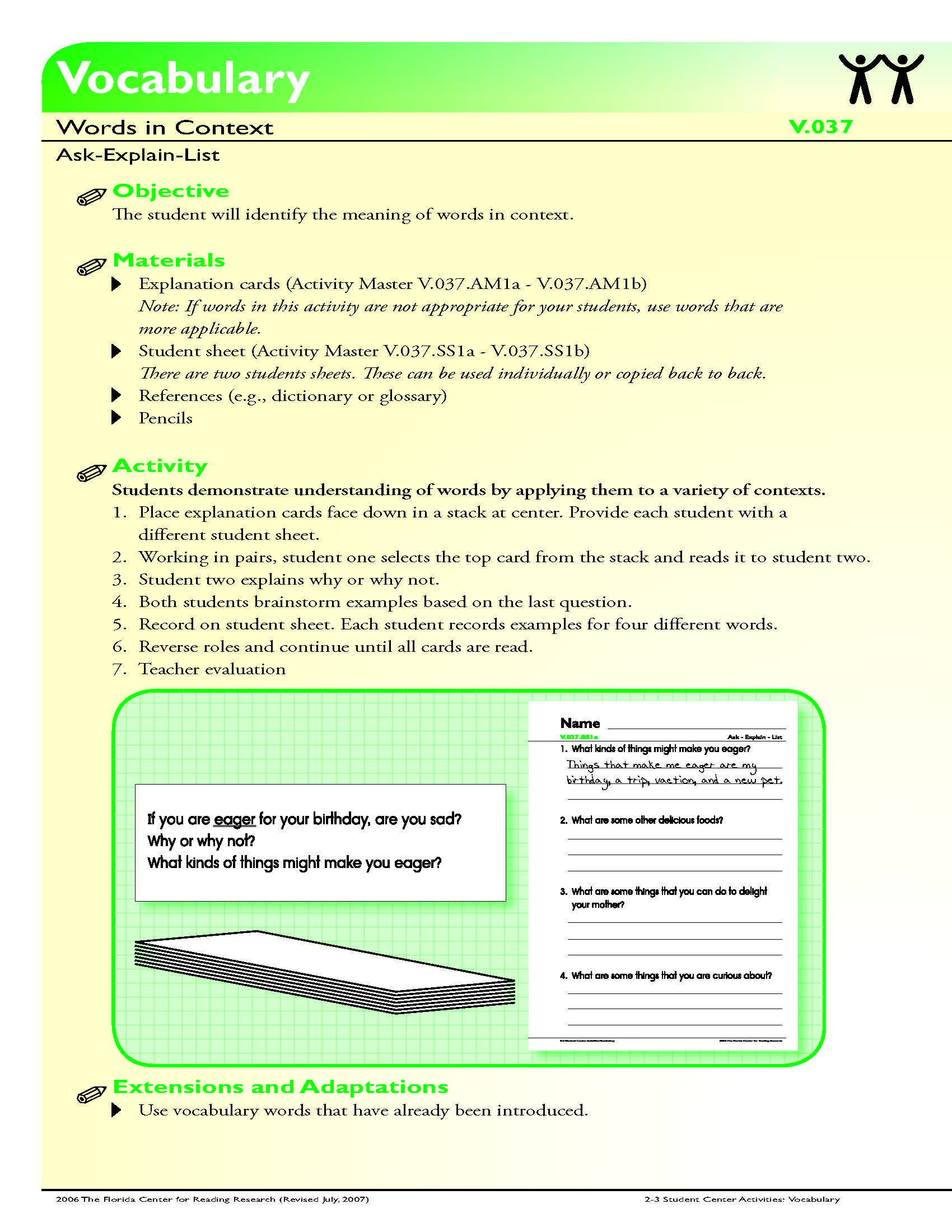 Context Clues Worksheets 6th Grade the Student Will Identify the Meaning Of Words In Context