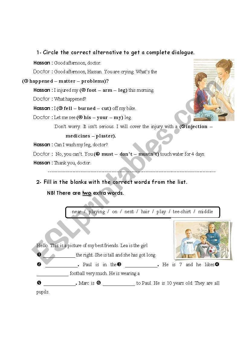 Dialogue Worksheets Middle School Dialogue and Fill In Esl Worksheet by Fafauu