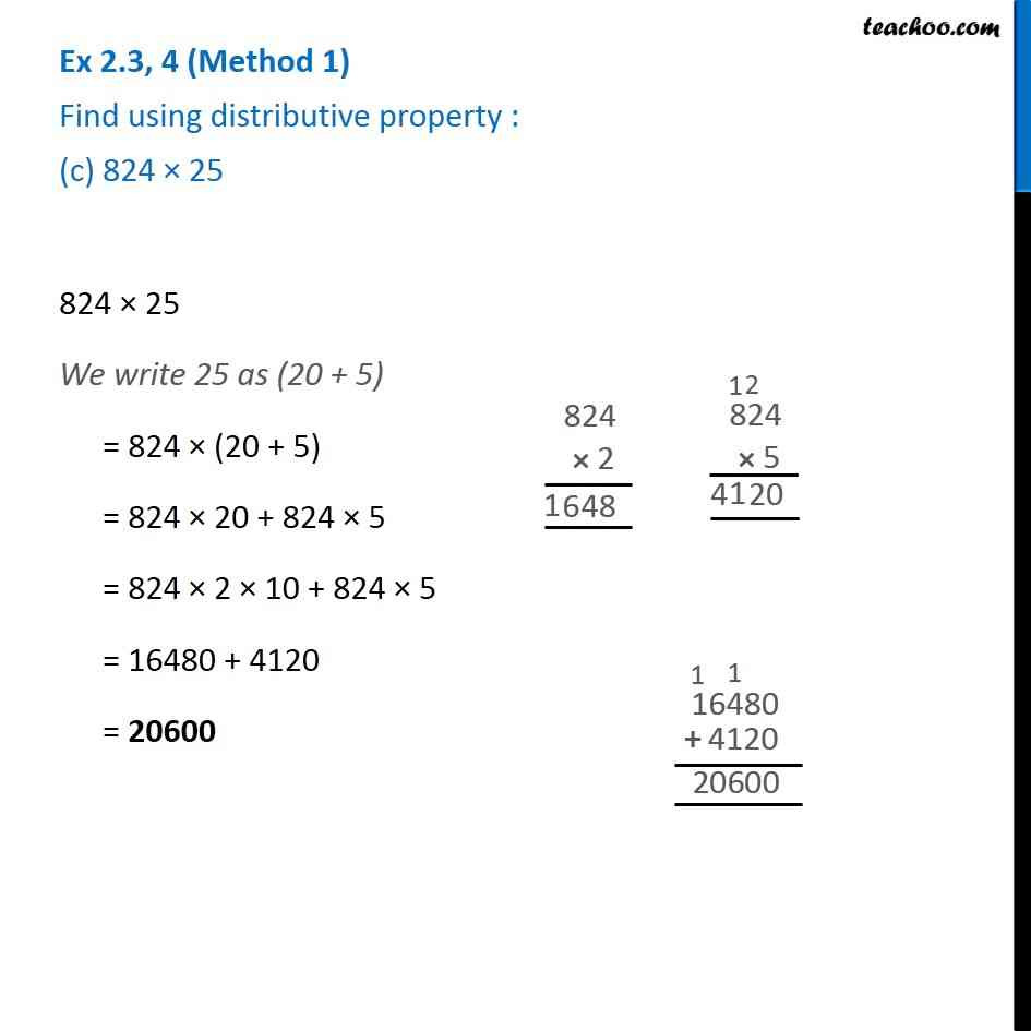 Distributive Property Worksheet 6th Grade Ex 2 3 4 Find Using Distributive Property A 728 X 101