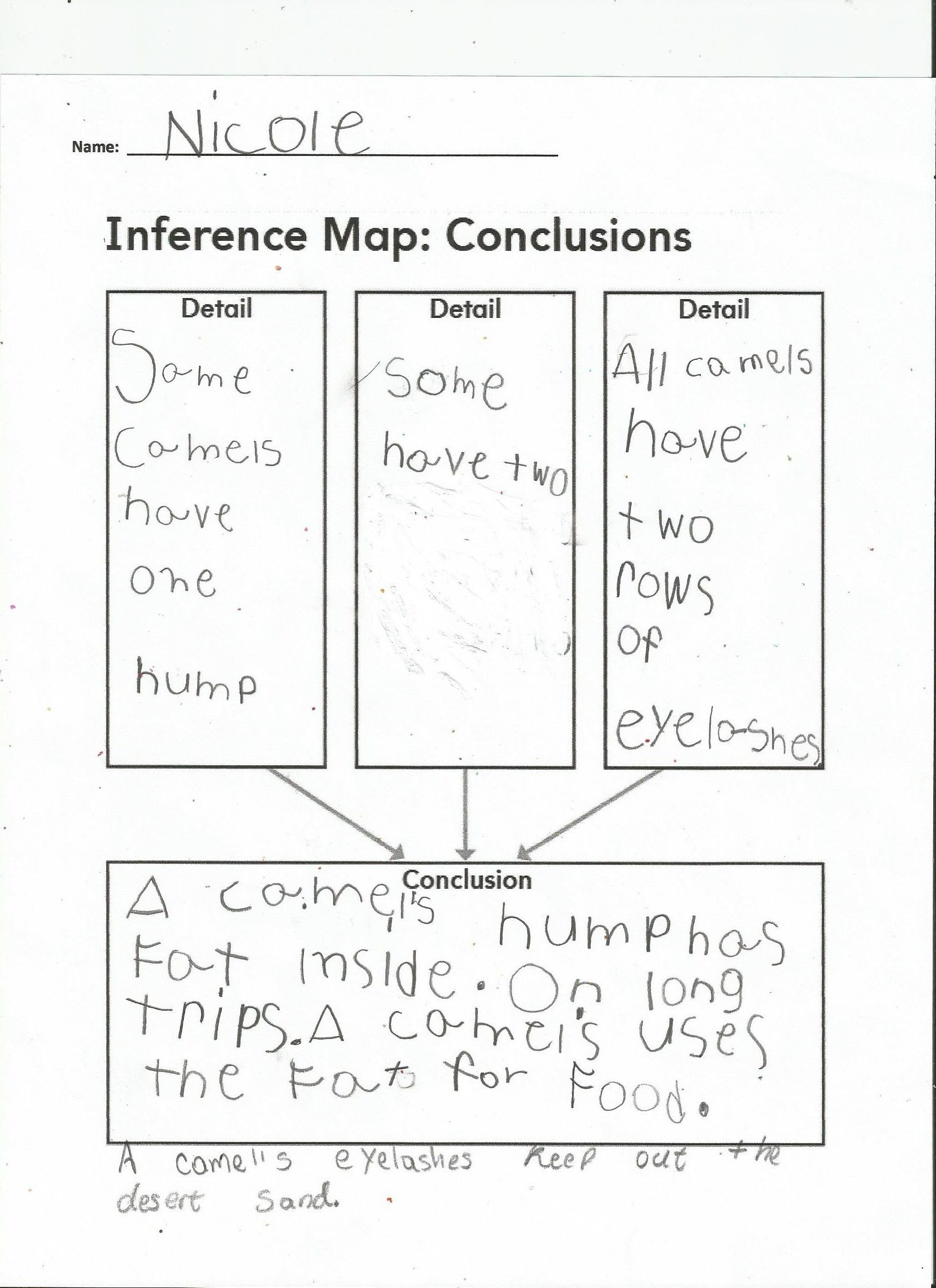 Drawing Conclusion Worksheets 3rd Grade Amazing Animals Inference Map Conclusions